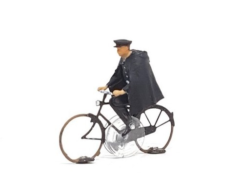 KKi-1 60s French bicycle police officer ready to run